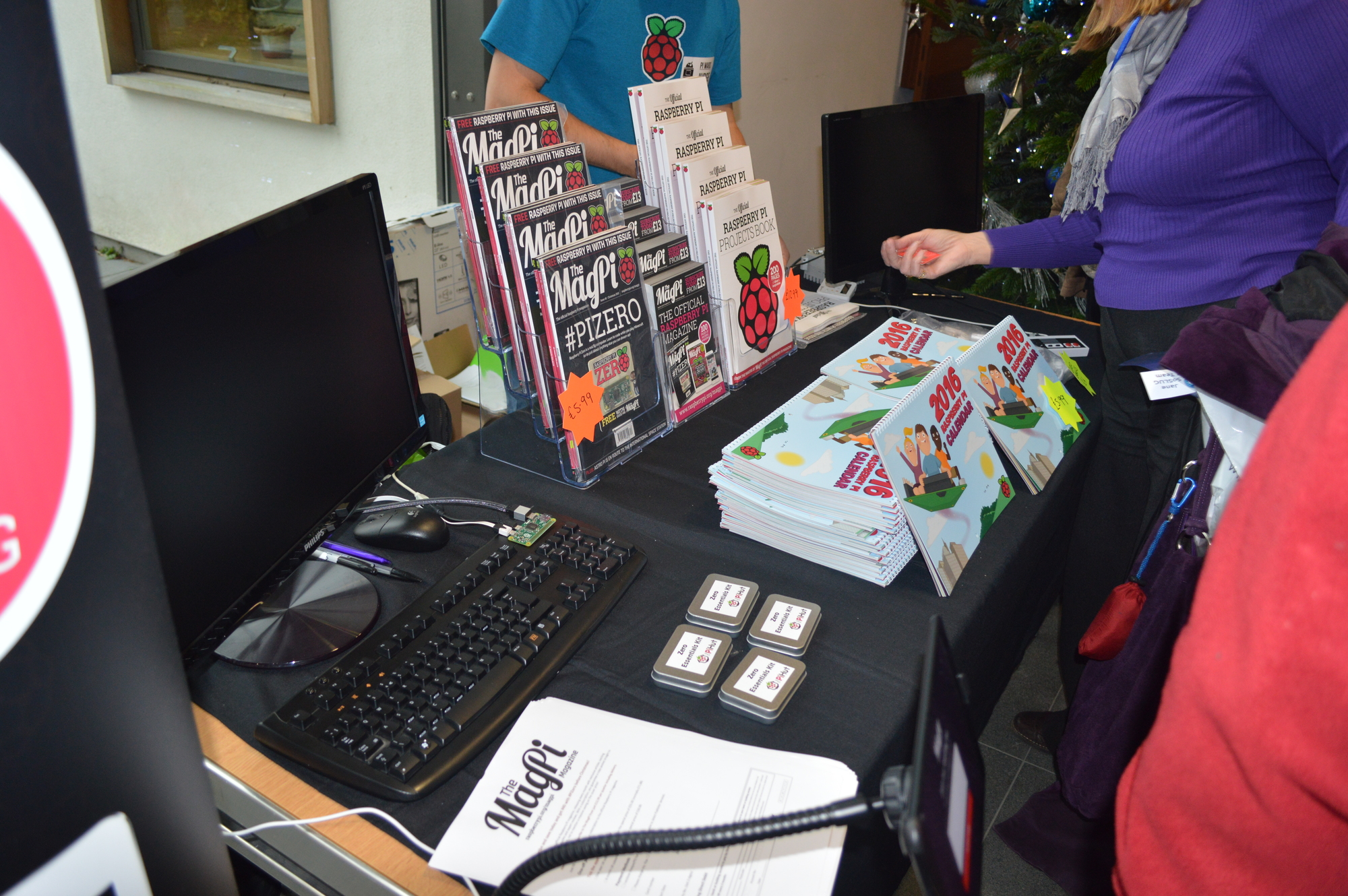 We had a stall at Pi Wars, full of MagPi goodness and projects