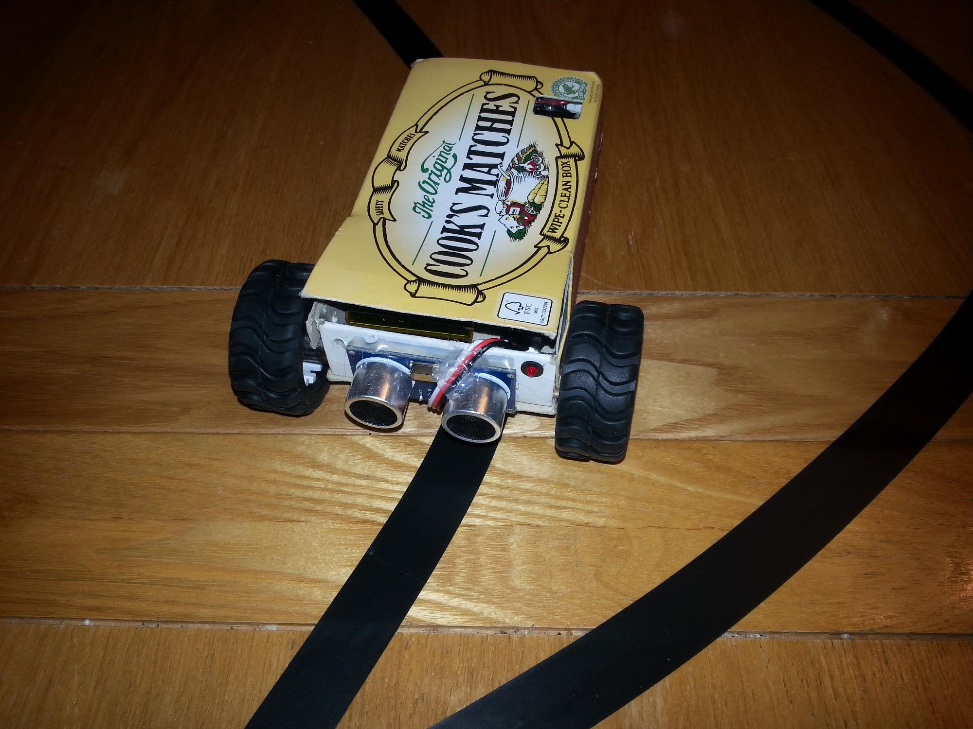 The Matchbot - a robot in a matchbox!