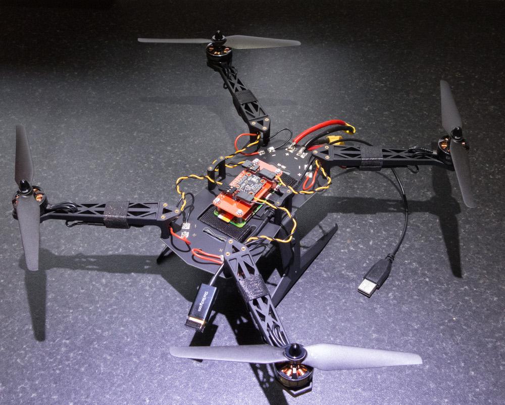 Zoe the Zero is a small drone built with Raspberry Pi Zero