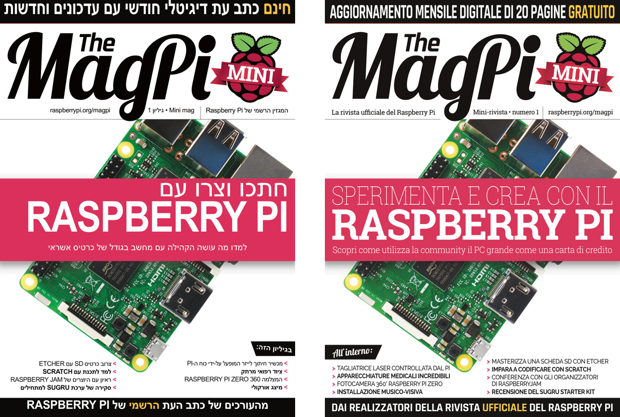 The MagPi Magazine in Hebrew and Italian