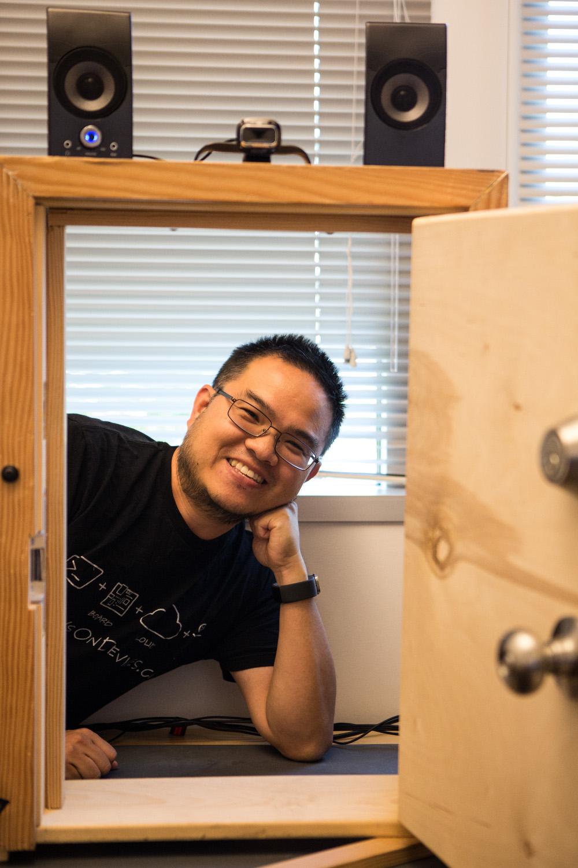Masato Sudo, showing off a successful door opening