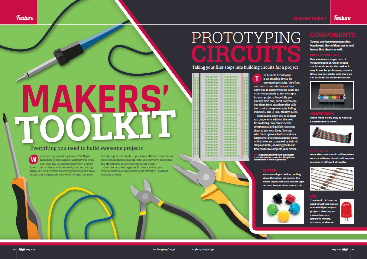 Create the ultimate makers toolkit and much more this issue