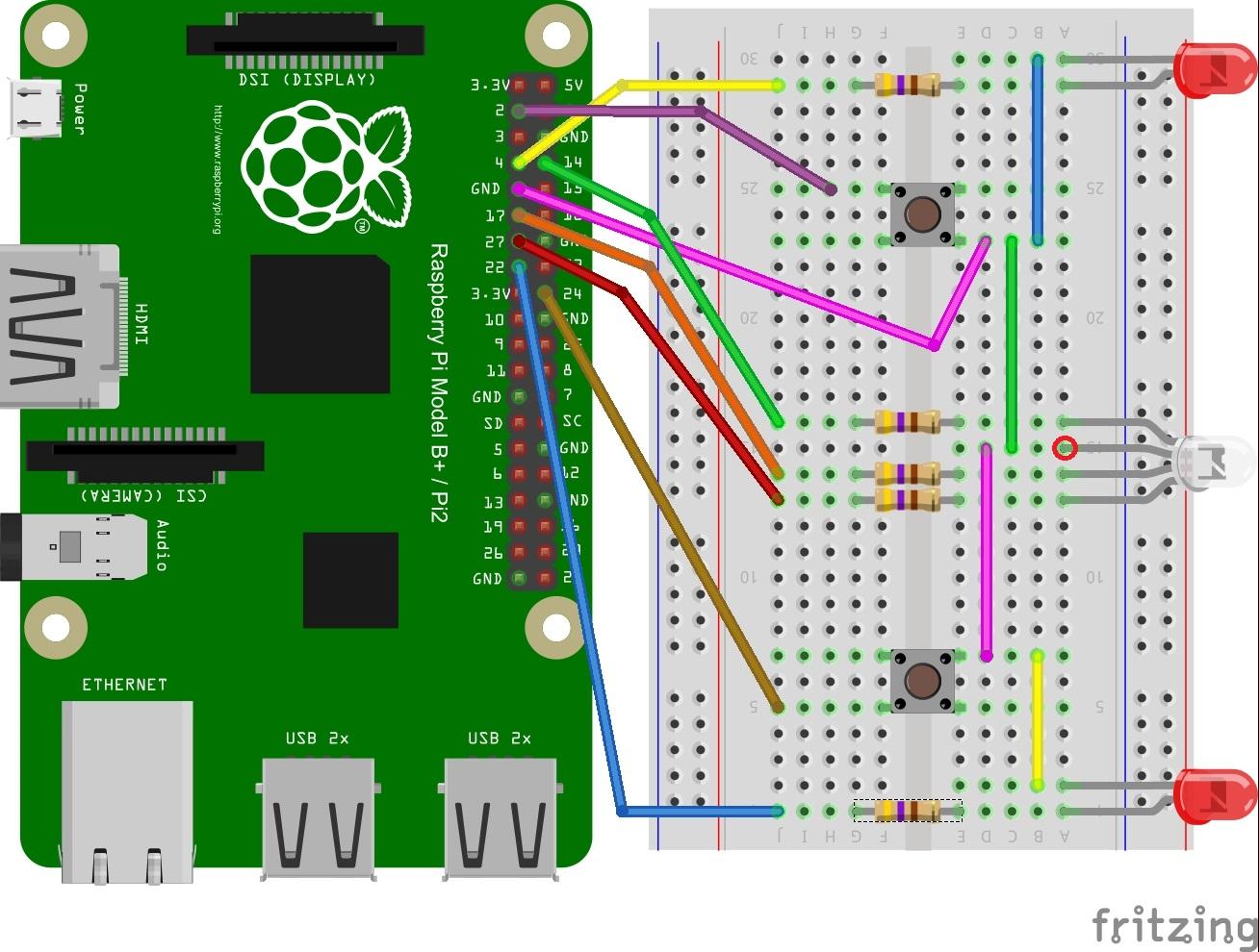 Reaction Game Circuit Diagram