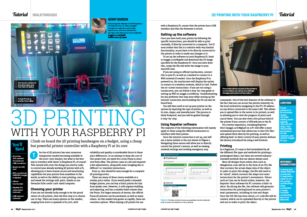 3D Printing with your Raspberry Pi