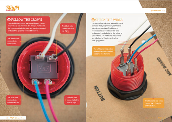 AIY Projects Voice Kit: the new button assembly instructions