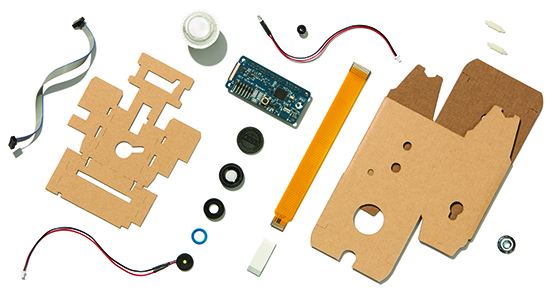 AIY Projects: Vision Kit contents