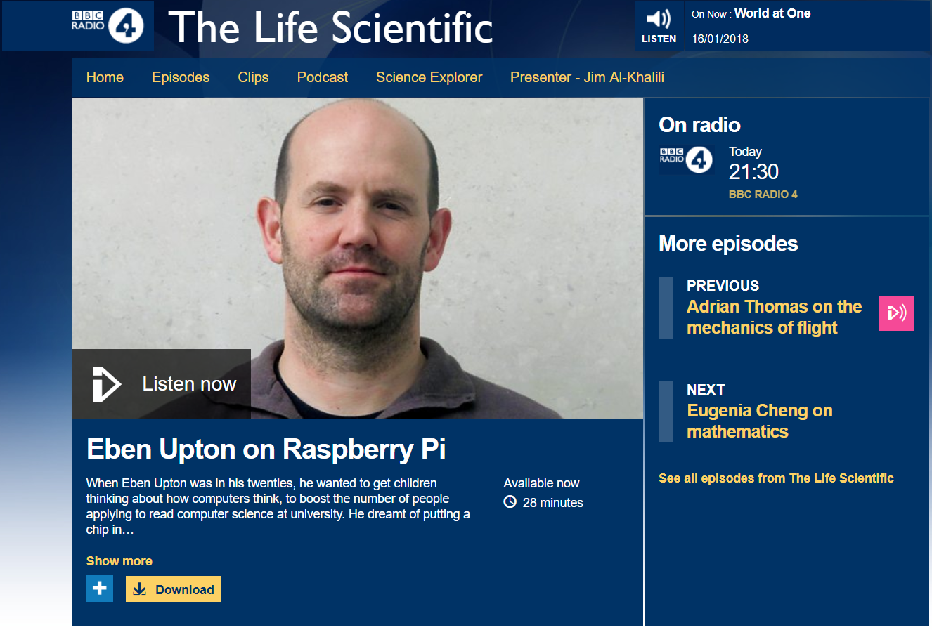 The Life Scientific is a great series - give it a look!