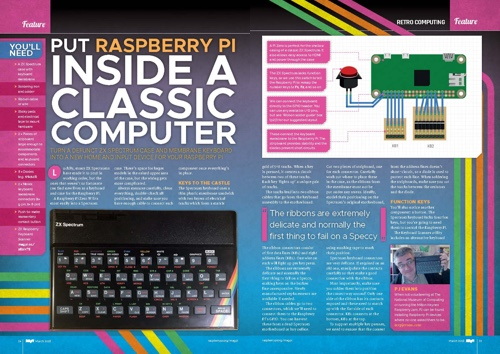 How to put a Pi Zero W inside a Sinclair Spectrum in The MagPi #67