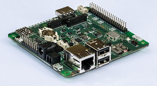 As well as the extras, you'll find standard Raspberry Pi hardware such as an HDMI output, HAT connector, and CSI camera and displayports. Essentially a motherboard for a Raspberry Pi Compute Module, Project Fin is packed with extra hardware and capabilities