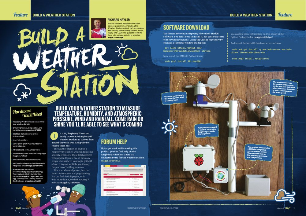 Build your own Weather Station in The MagPi #71
