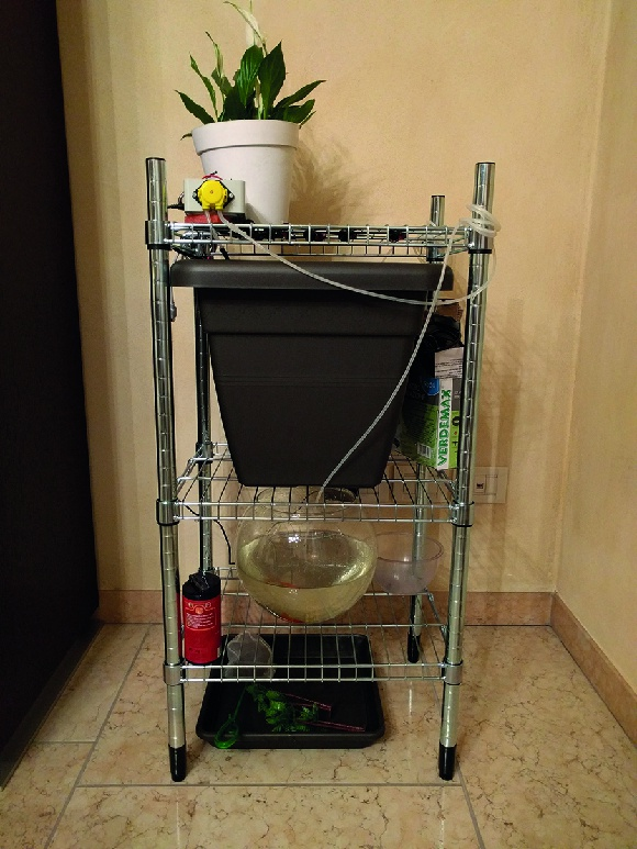 A prototype setup for the system using IKEA parts