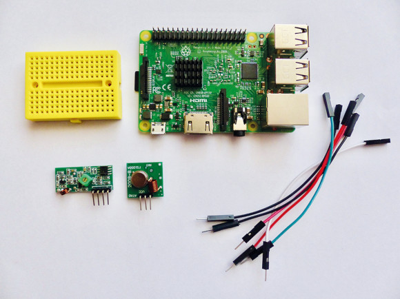 The parts you'll need for a 433MHz radio chat device