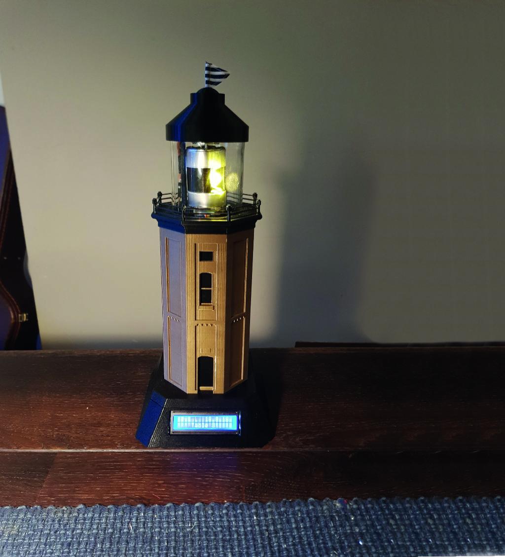 A beautiful lighthouse model