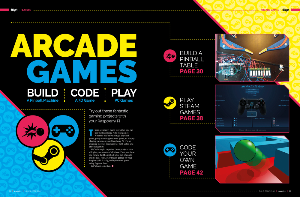 Discover a range of Arcade Games projects in The MagPi 78