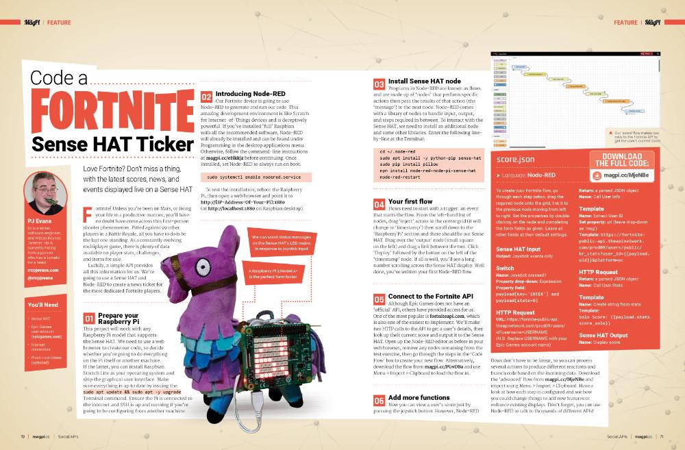 Build a Fortnite Sense HAT ticker with Raspberry Pi