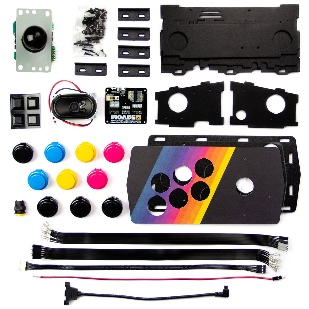 All the parts of the kit – assembly is fairly straightforward