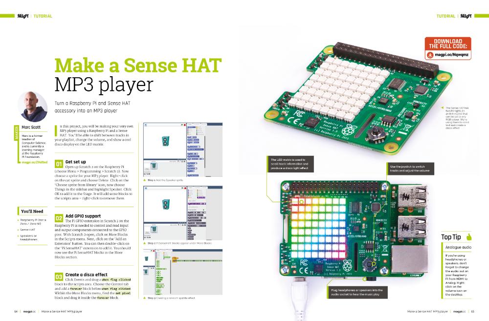 Make a Sense HAT MP3 Player