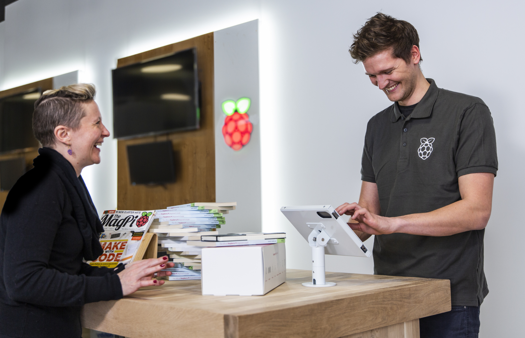 Making a purchase at the Raspberry Pi store