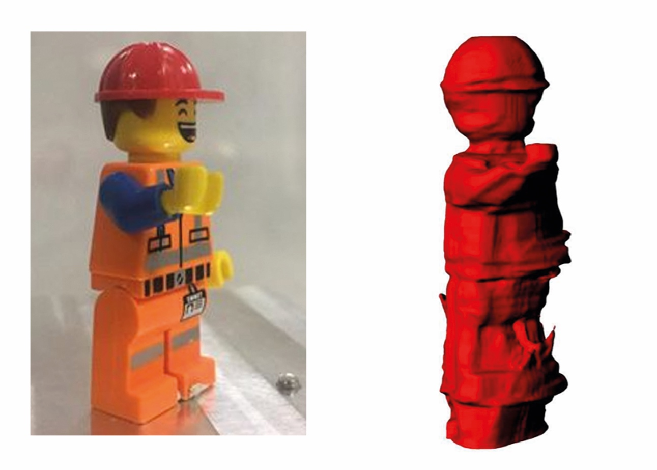 What a Lego man looks like as a Lego scan