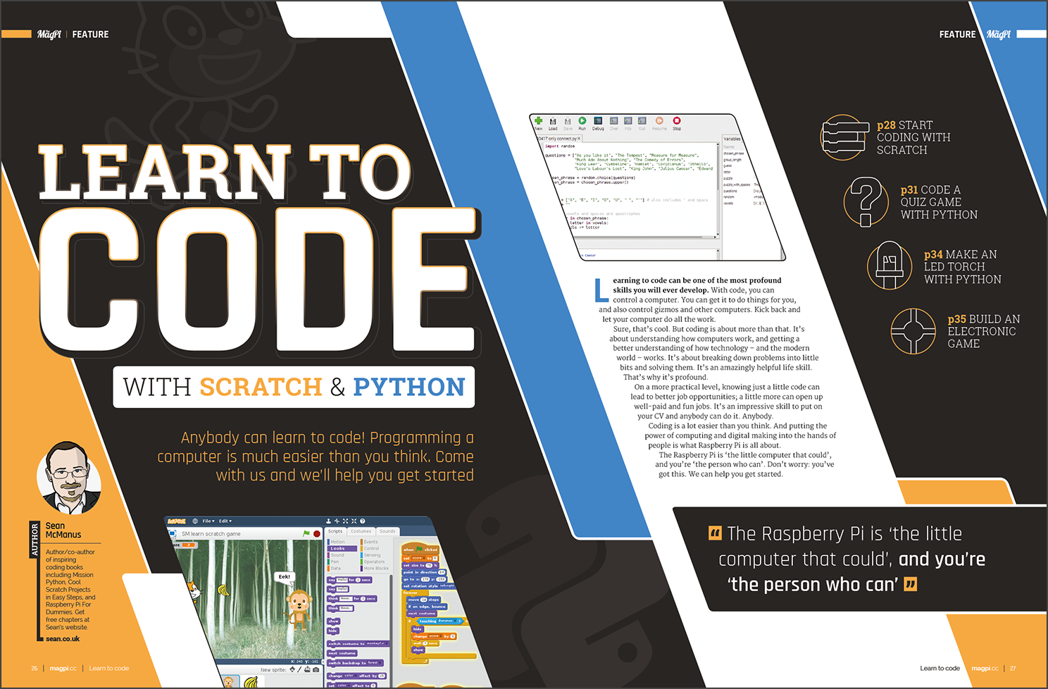 Learn to code with Scratch and Python