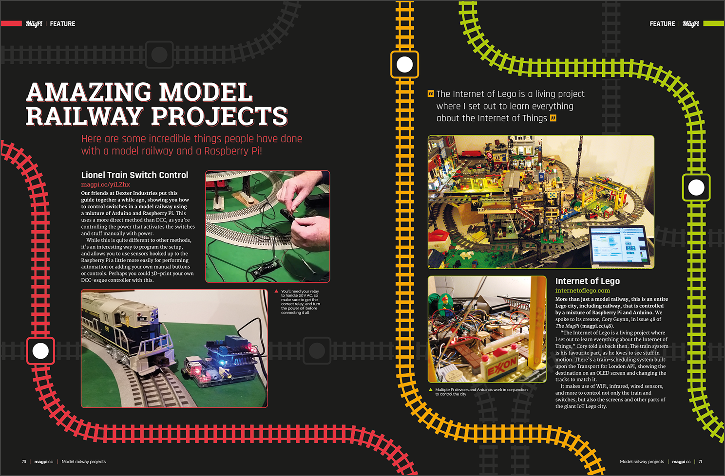 Amazing model railway projects in The MagPi 82