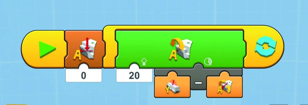 Figure 2 The Lego language way to program Eyes Front