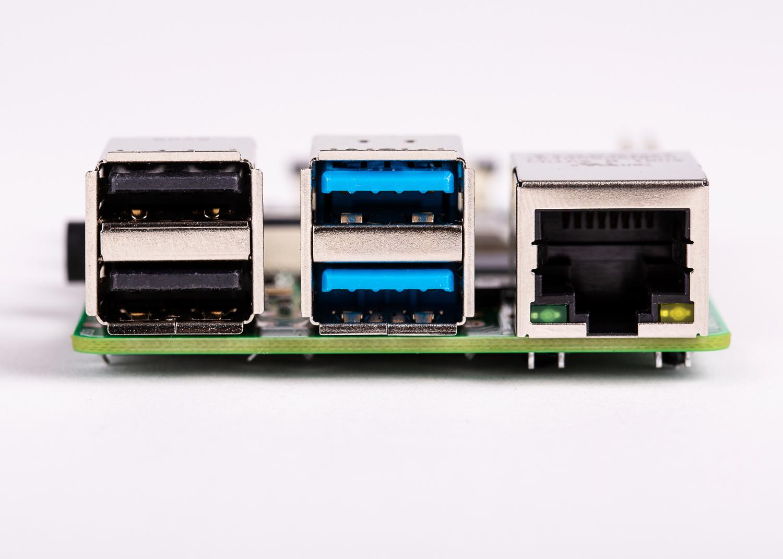 Gigabit Ethernet and USB 3.0 ports