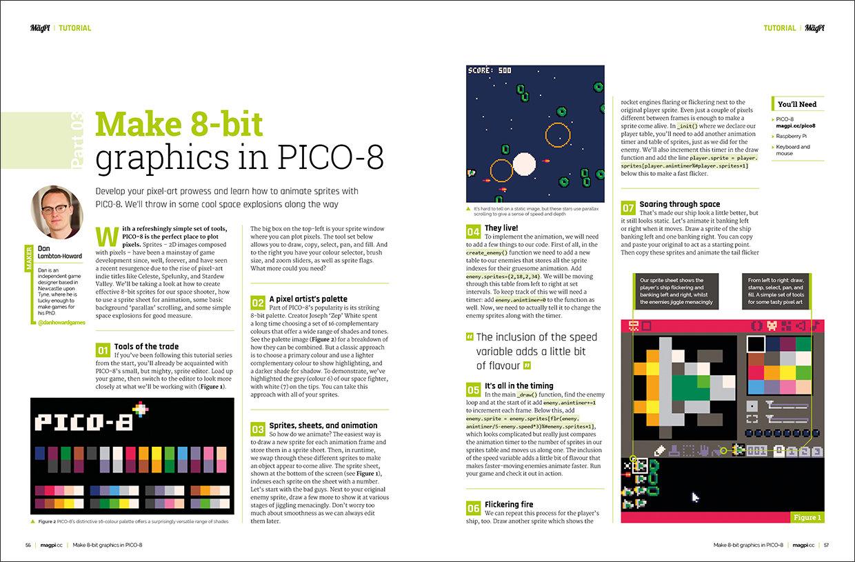 Create fantastic looking retro games with PICO-8